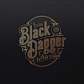Black Dagger Tattoo Studio Logo