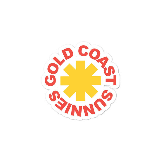 Gold Coast Sunnies Bubble-free stickers