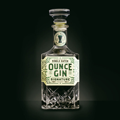 Ounce Gin Branding and Label Design