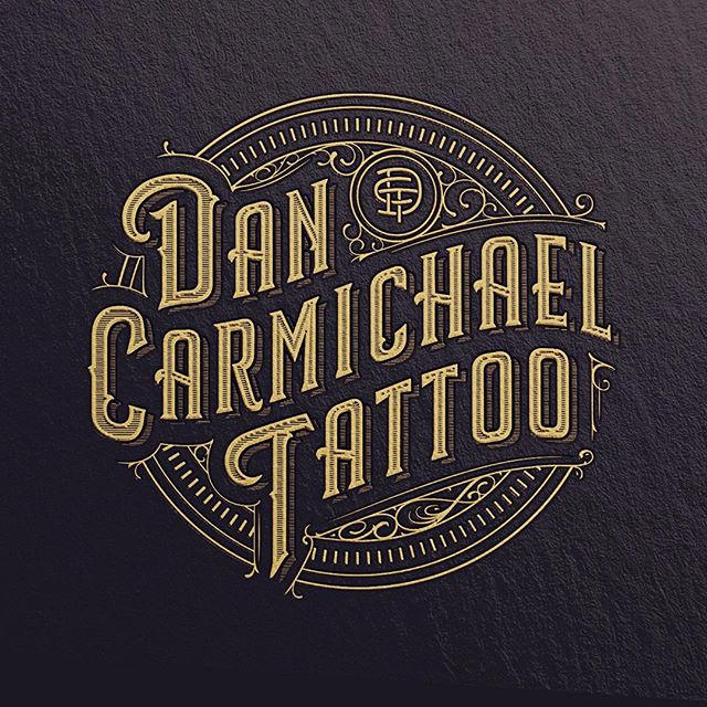 Dan Carmichael Tattoo Logo Design