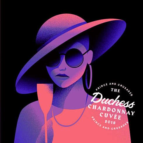 The Duchess Wine Label Design