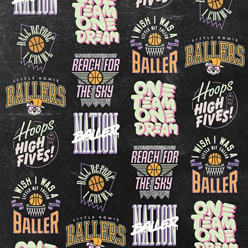 The Little Homie Ballers Range Apparel Design