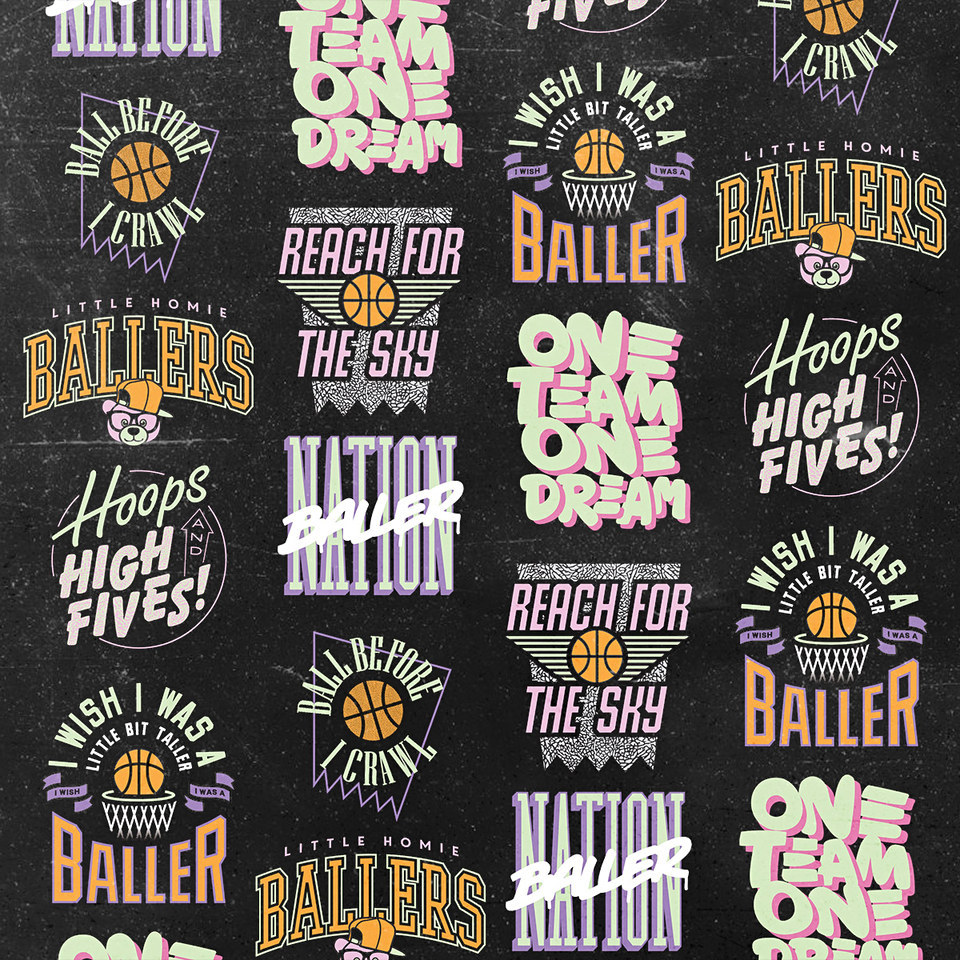 The Little Homie Ballers Range Apparel Design