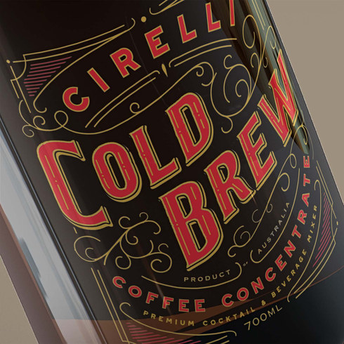 Cirelli Cold Brew Coffee Packaging Design