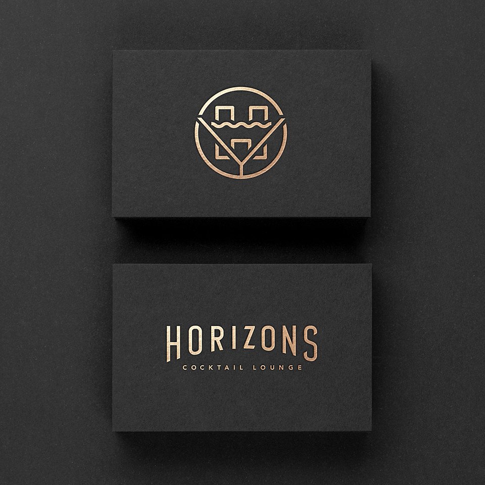 Horizons Cocktail Lounge Branding