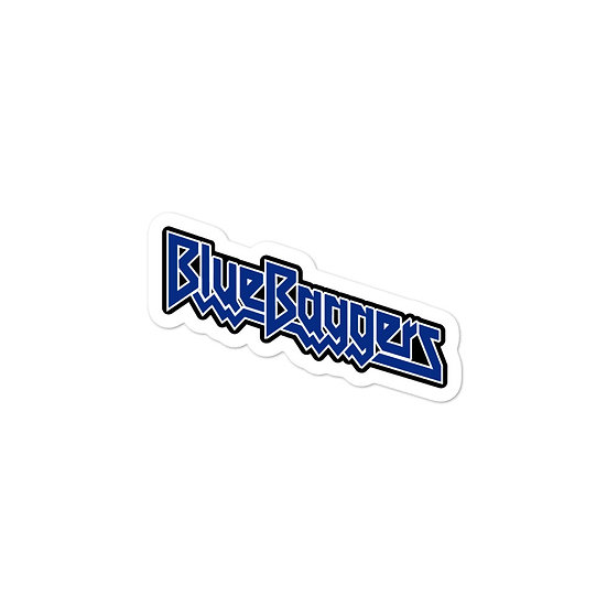 Blue Baggers Bubble-free stickers