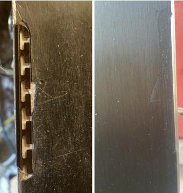 Ski edge repair and reconstruct