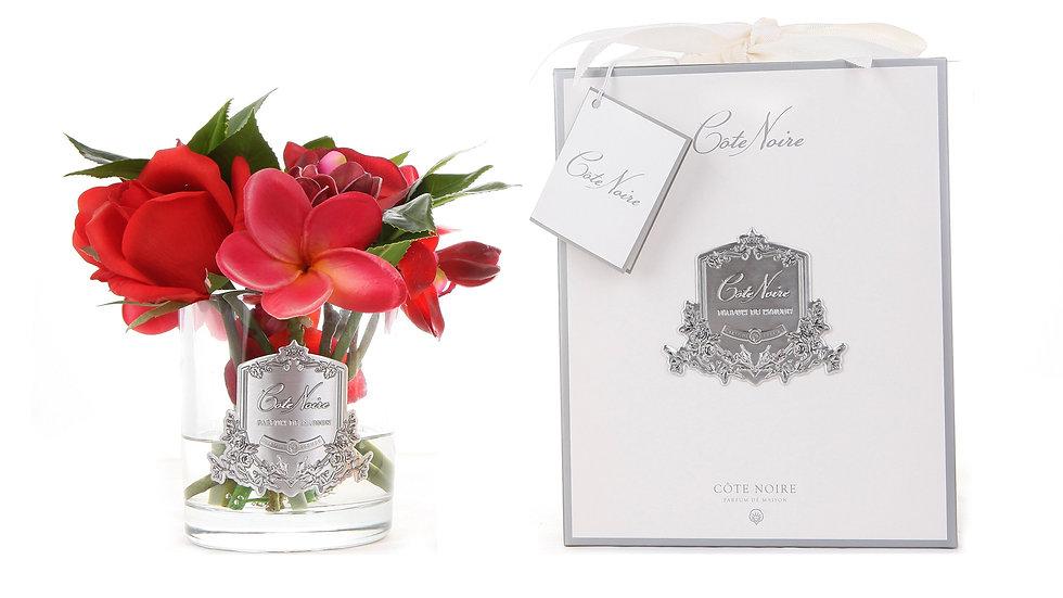 Côte Noire 冬季花卉 - 透明玻璃杯