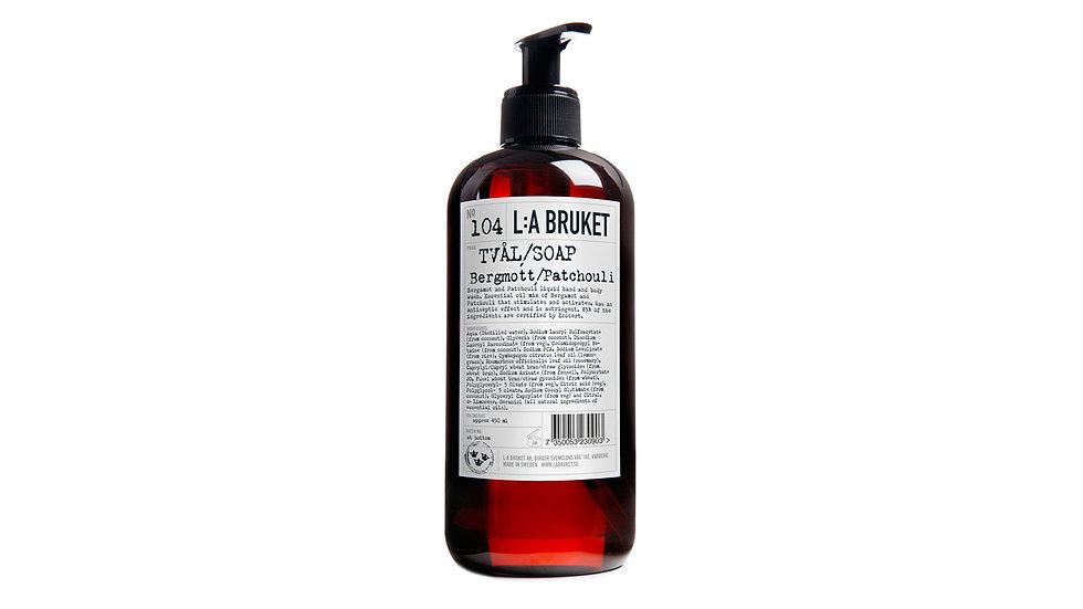 L:A Bruket 104 佛手柑/廣藿香液體肥皂