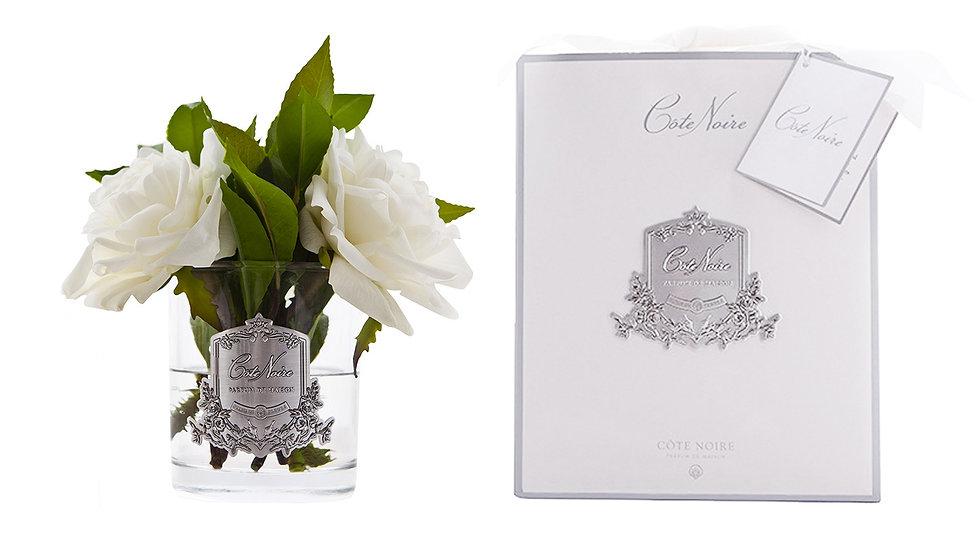 Côte Noire 白色英國玫瑰 - 透明玻璃杯