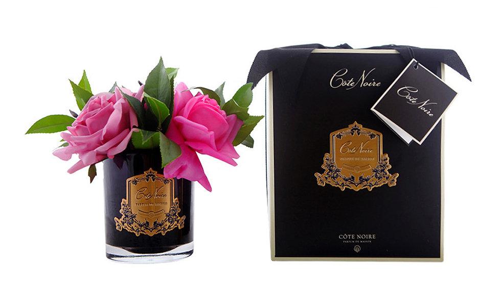 Côte Noire 玫瑰花束 - 深色玻璃杯