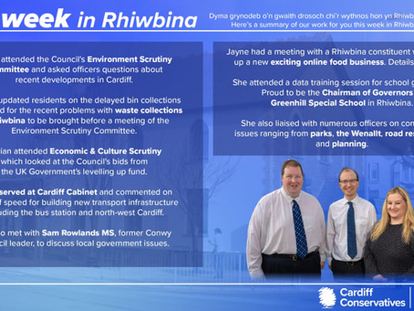 Our Week in Rhiwbina and Cardiff Council