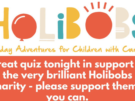 Holibobs Charity Quiz was so entertaining!