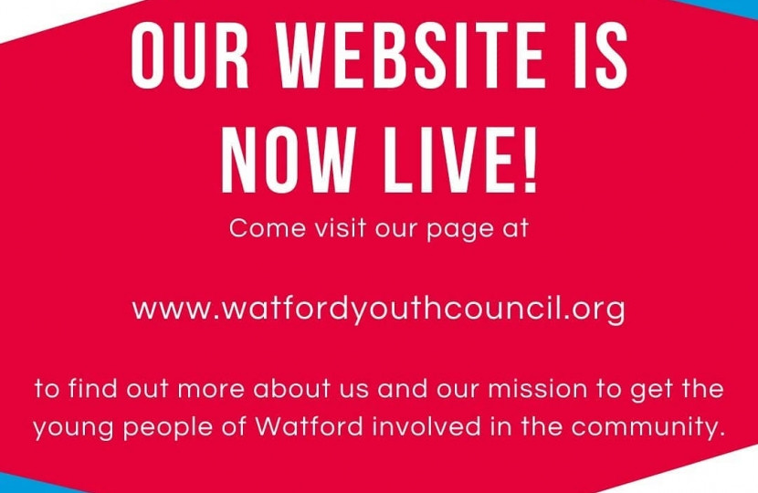 Watford Youth Council Website is live - Dean Russell MP