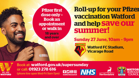 Roll-up for your Pfizer Vaccination