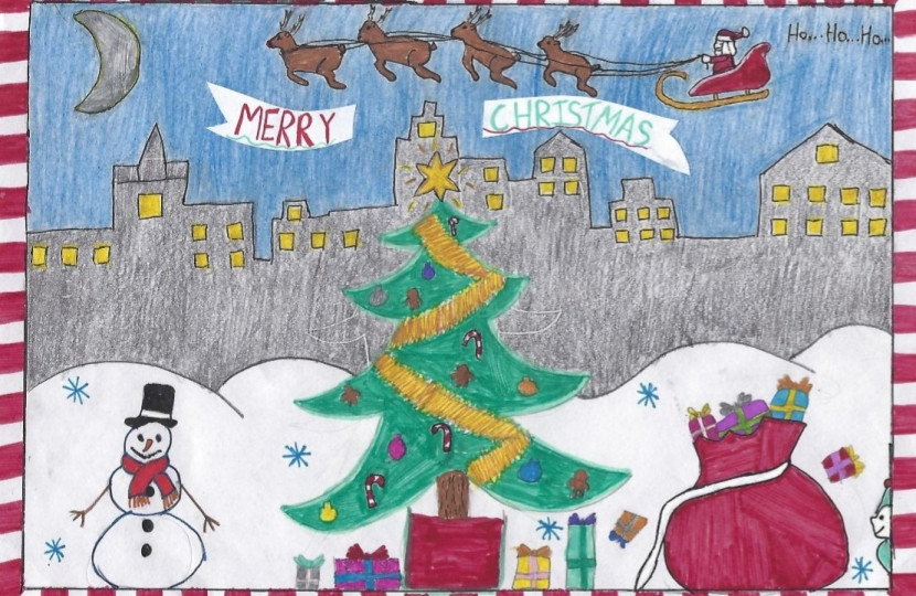 Winner of Dean Russell MP Watford Christmas Card Competition 2020