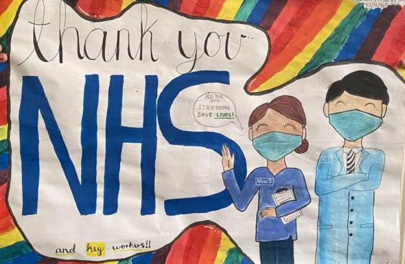 Winner of Watford MP Dean Russell's Thank You NHS contest
