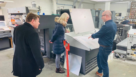 Dean Russell MP joins Amanda Milling MP on visit to local businesses