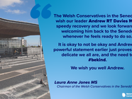 Wishing Andrew RT Davies MS a Speedy Recovery