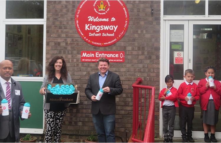 Dean Russell MP Watford visiting Kingsway Infants School