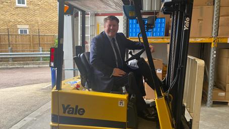 Dean visit 'Watford Workshop'