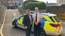 Reducing crime: Dean Russell discusses plans with Chief Inspector