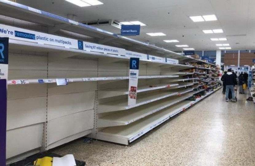 Empty shelves - Dean Russell MP Watford