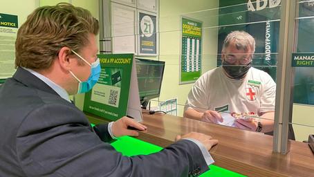 Watford MP visits Paddy Power ahead of Euro 2020 Final