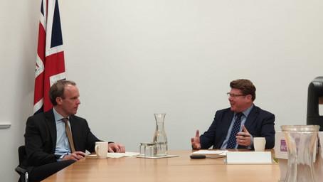 Watford's MP interviews Dominic Raab