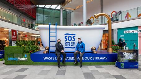 Enormous 10,000 litre bath makes a splash in Watford