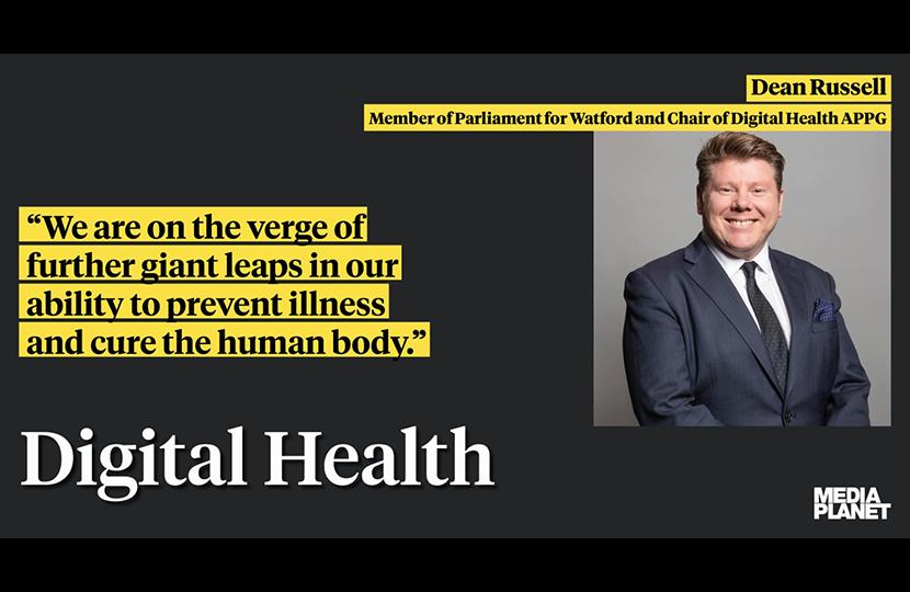 Dean Russell MP Watford speaking about Digital Health