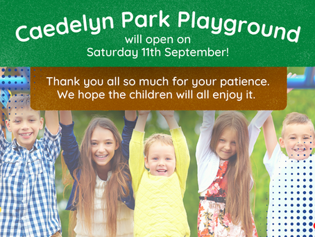 Caedelyn Park Playground is Open!
