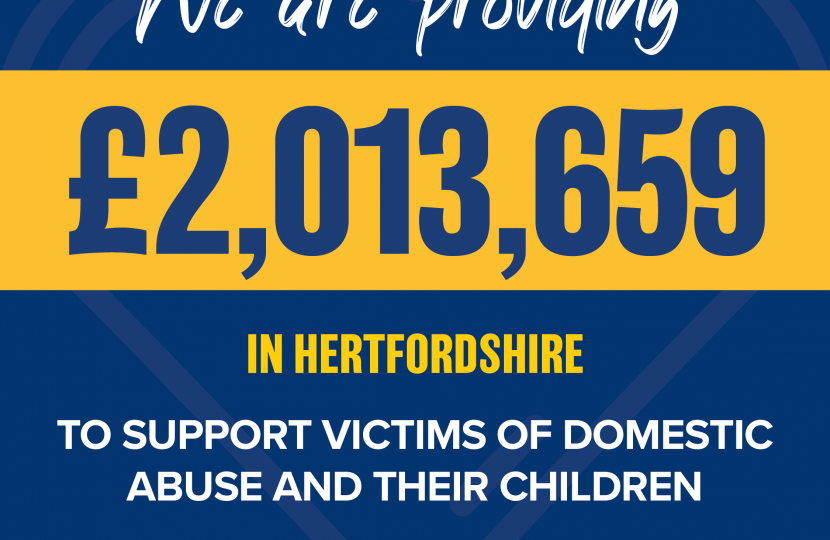 Funding to support domestic abuse victims - Dean Russell MP Watford