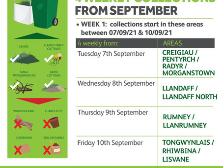 Green Garden Waste - 4 Weekly Collections from September
