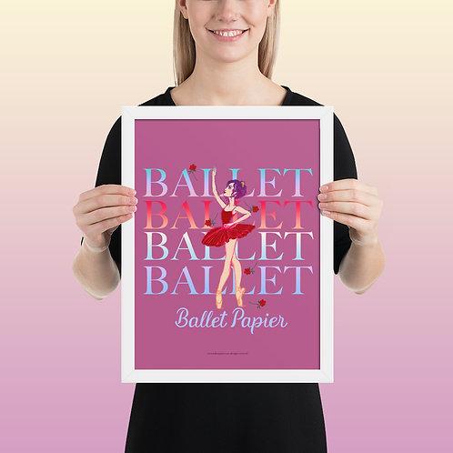 Rose Ballet Framed Poster