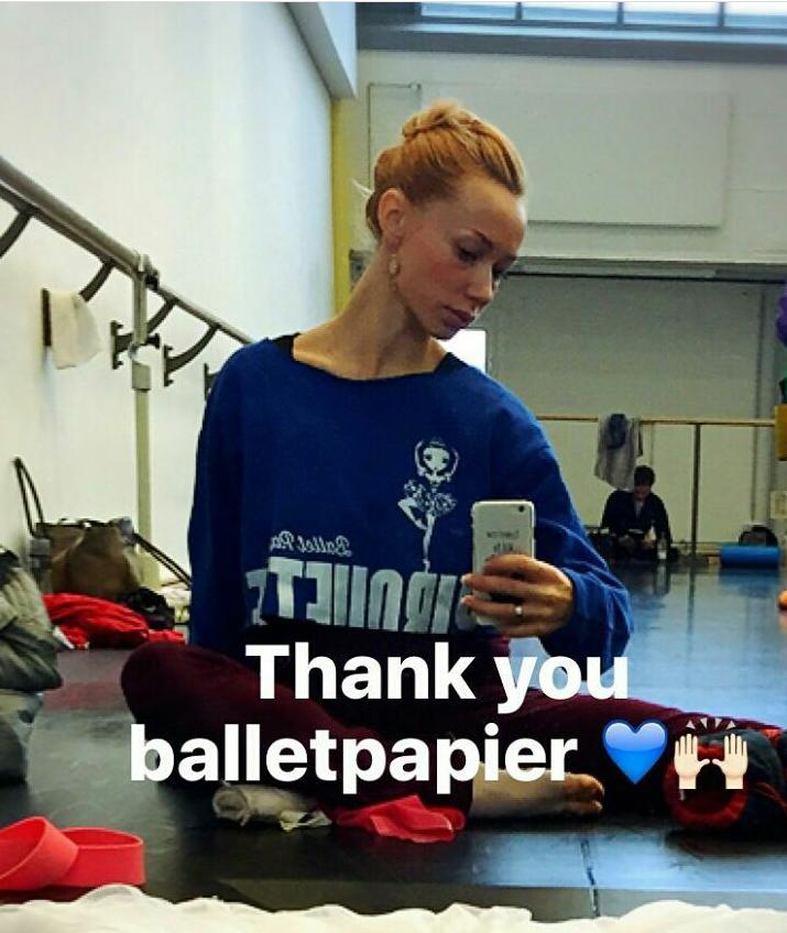 Iana Salenko wearing Ballet Papier Pirouette Pullover