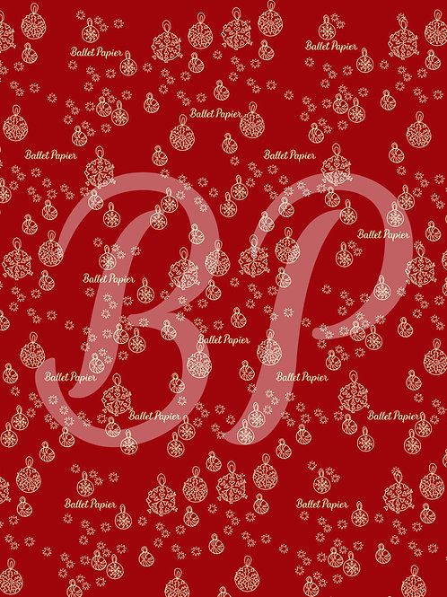 Patterned Sheet for Christmas decoration 4