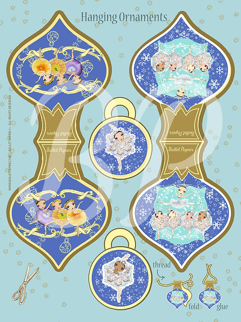 Waltz of the Snowflakes & Flowers Hanging Ornament
