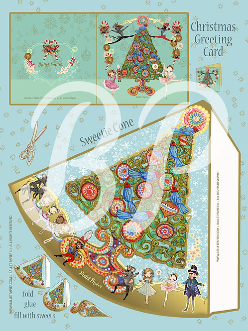 Christmas Sweetie Cone & Card The Nutcracker