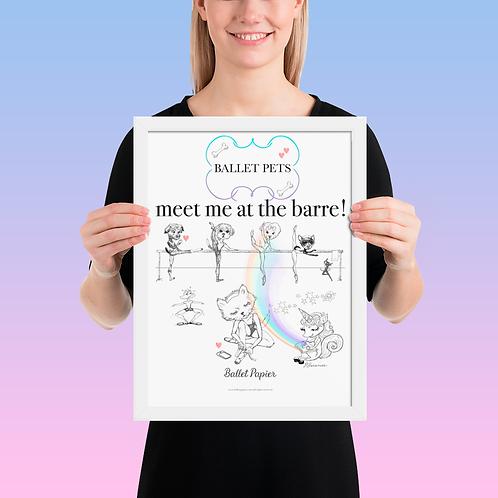 Ballet Pets Framed Poster