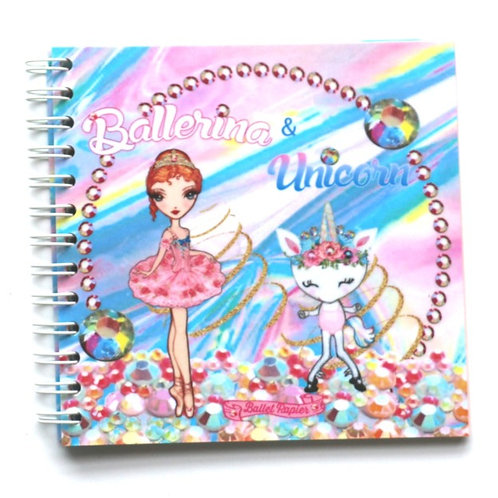 Ballerina & Unicorn Square Notebook