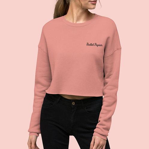 Ballet Papier Cropped Sweatshirt Mauve