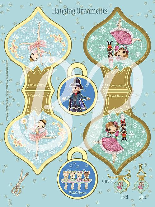 Clara & Sugar Plum Fairy Hanging Ornament