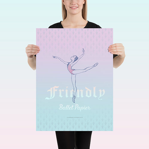 Friendly Ballerina Poster