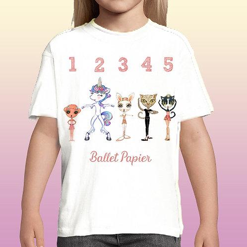 Ballet Positions Pets Girl T-shirt