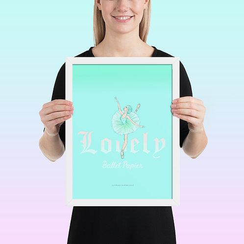 Lovely Ballerina Framed Poster
