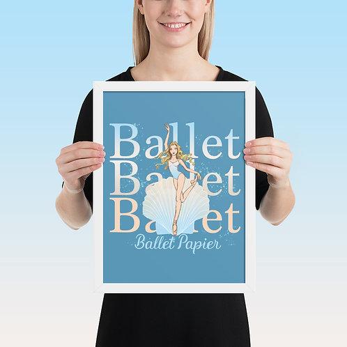 Ballet Pearl Framed Poster