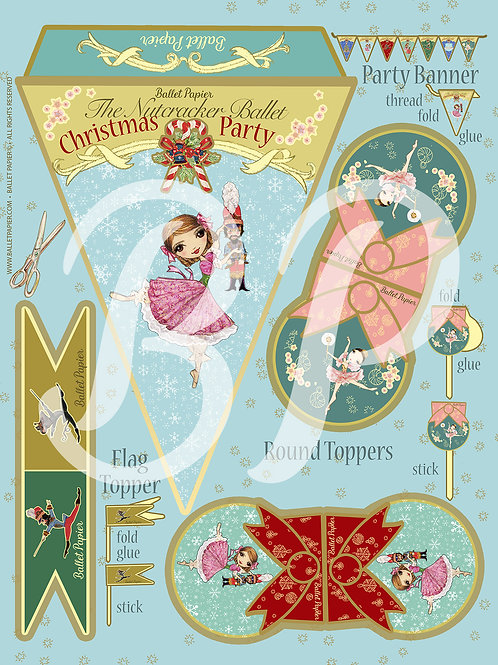 The Nutcracker Party Banner & Topper 2