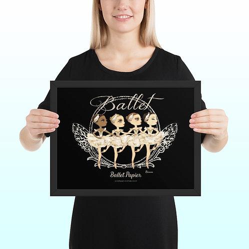 Little Swans Framed Poster