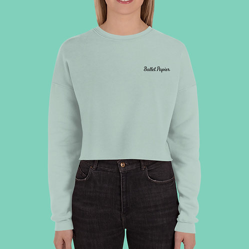 Ballet Papier Cropped Sweatshirt Mint